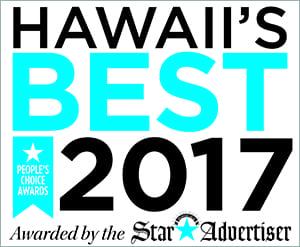 Star Advertiser's Hawaii's Best 2017 badge