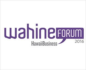 Judy Bishop as Guest Moderator at Wahine Forum 2016